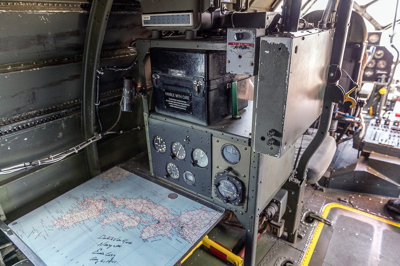 Dutch Van Kirk, the navigator on the B-29 Enola Gay, lives in the Atlanta area. He had stopped by to visit with the B-29 FiFi and signed the map of Japan in the Navigator's station aboard the plane.<br /> <br /> You can see Dutch's autograph on the map.