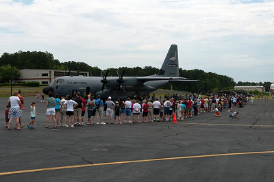 There was a long line of people all day, to tour the Hurricane Hunter. Most of the day the wait time was 1 -1.5 hours to get to see the plane. The fact that people waited that long shows how interested people are in this aircraft.