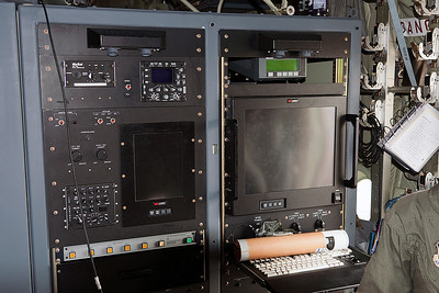 One of the two Weather Data stations aboard the Hurricane Hunter aircraft. These stations relay information back to the National Hurricane Center.