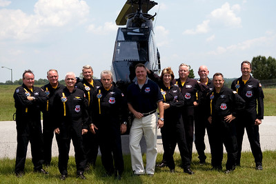 Cobra Demo Team  From Left to Right: Brian Callahan, Gary Kilker, Peyton Dehart, Mark Robinson, Skip Lam, Lee Maynard, Patty Meek, Richard Thetford, Jerry Sanders, Jeff Moss, John Woodward.