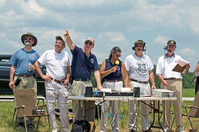 From Left to Right: Mike Breunig (Safety), Alan McCulloch (Sound Board), Curt Knapp (Sound Board), Shanda Elkins (Narrator), Ron Disney (Air Boss), Ralph Kahlan (Assistant Air Boss)