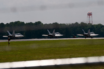 VMFA-142 planes 200, 202, & 209 await clearance for take-off on the last flight of the Flying Gators on 5/31/08.