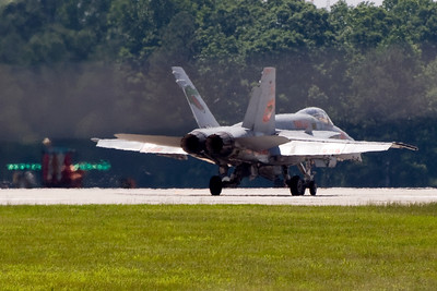 VMFA-142 plane 200, piloted by LtCol Farris is preparing for takeoff.