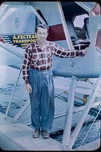 Monsieur Robert Parent à la base Air Fecteau Senneterre