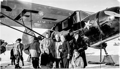Famille Gaudreau Hiver 1938 sur le Lac Macamic