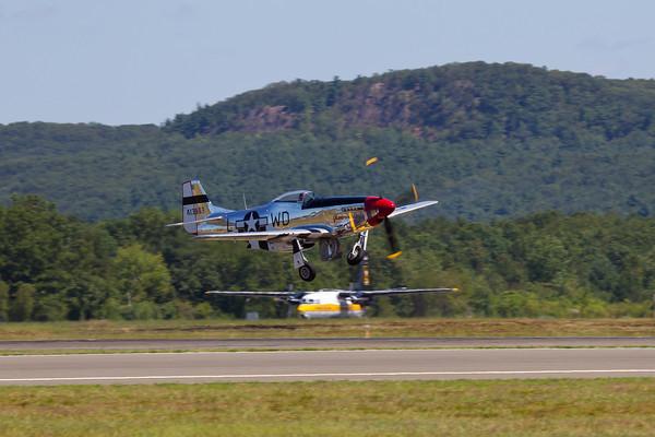 "P-51D Mustang, ""Glamorous Gal"" Arrival 8/20/10"