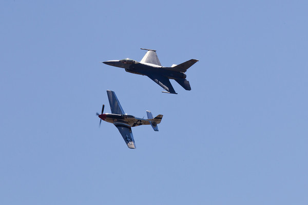 """USAF Heritage Flight """"P-51D Mustang and F-16C Viper""""  8/20/10"""