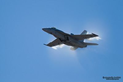 SALINAS, CA - SEPT 25: US NAVY Boeing F/A-18 Super Hornet demonstration during the California International Airshow, on September 25, 2011, Salinas, CA.