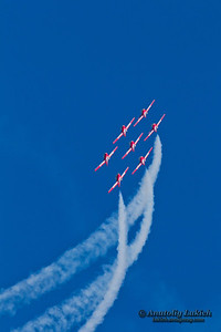 SAN FRANCISCO, CA - OCTOBER 9: The Snowbirds Demonstration Team (431 Squadron), demonstrate the skill, professionalism, and teamwork of Canadian Forces personnel during Fleet Week on October 9, 2011 in San Francisco, CA.