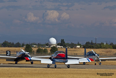 SACRAMENTO, CA - SEPT 8: West Coast Ravens aircrafts grounded after performance at the California Capital Airshow on September 8, 2012 in Sacramento, CA.