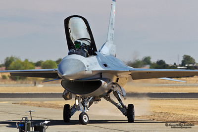 SACRAMENTO, CA - SEPT 8: USAF F-16 Fighting Falcon aircraft on display during California Capital Airshow on September 8, 2012 at Mather Airport, Sacramento, CA.