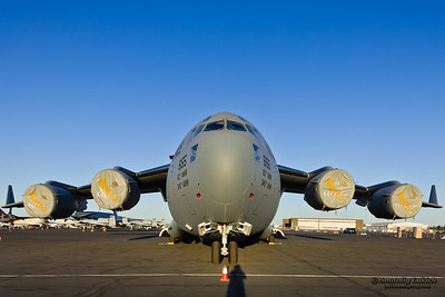 SACRAMENTO, CA - SEPT 8: Boeing C-17 Globemaster III aircraft on display during California Capital Airshow on September 8, 2012 at Mather Airport, Sacramento, CA.