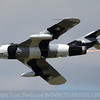 One of the Mig 17 Solo's of the Black Diamond Jet team. turning on the burner on Friday.