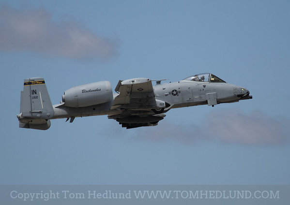 """A-10 from Indiana """"Blacksnakes"""" over flying the field."""