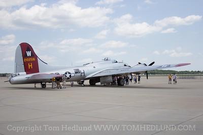 EAA's B-17 Aluminum at Rockford Airport