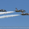 The stunning L-39's of The Hoppers performing a 3 ship formation during the Jet Parade at Wings Over Waukegan.