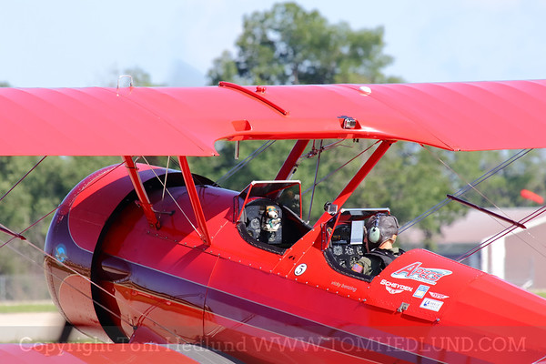Vicky Benzing, Stearman and Snoopy ready to take flight for another captivating performance.