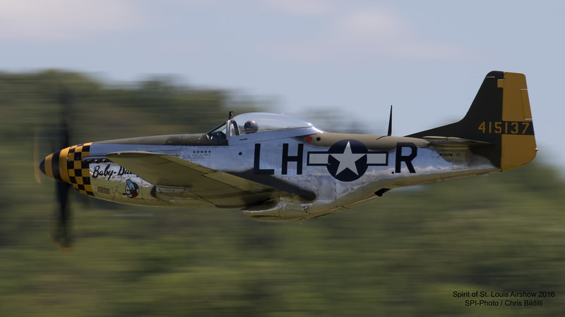 Vlado Lenoch flying Waukegan Warbird Foundation's P-51D