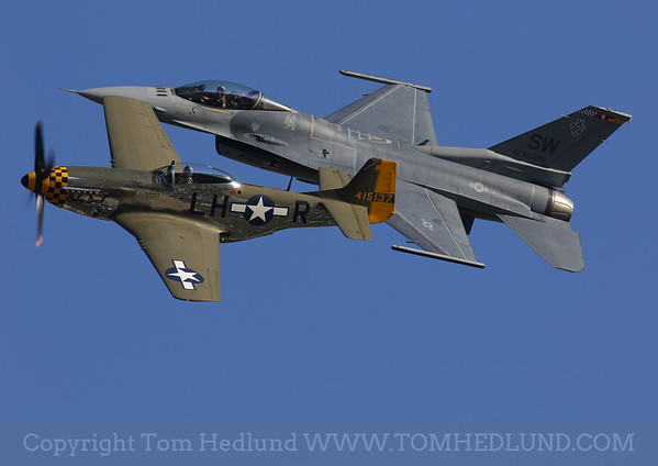 F-16 P-51 Heritage flight