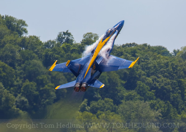 Blue Angels Number 6 taking to the sky