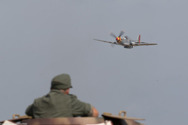 P-51 making a run at German armor
