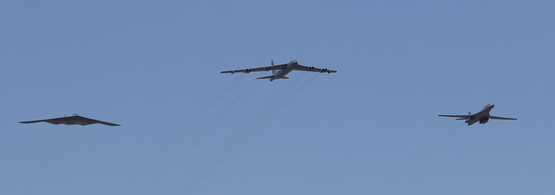 Current Bombers - B-2, B-52, B-1