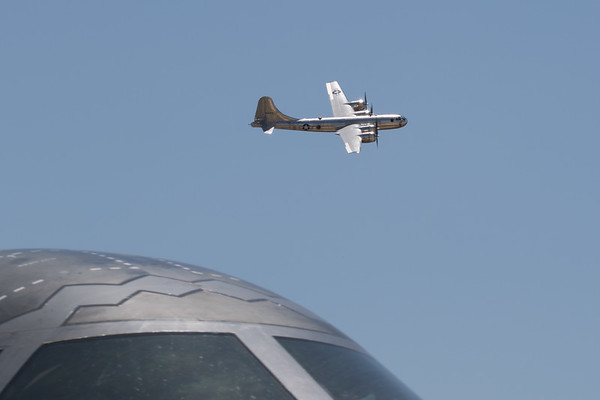 B-29 w/ B-2 in foreground