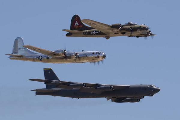 B-17, B-29, B-52