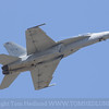 The F/A-18 of the VFA-122 Flying Eagles pointed upwards.