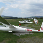The single seat gliders, Discus, ASW19 and SZD Junior