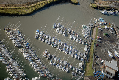 Masts in Suffolk Marina