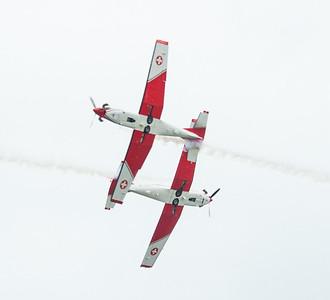 Utilisé en Suisse pour la sélection des pilotes et pour la formation de base, le PC-7 permet une instruction idéale avant le passage sur jet ou sur hélicoptère.