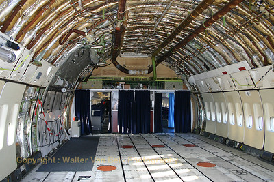 """Amazing view (looking forward) from the partially stripped-down cargo area of """"Louis Blériot"""", KLM's last 747-200 (PH-BUK / UK-027, cn 21549/336), now retired at Aviodrome in Lelystad."""