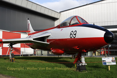 This is a hybrid aircraft. Painted as a RAF Hawker Hunter F4. Only the rear fuselage comes from WV395 while the rest comes from a former Danish Air Force F.Mk.51 serialled 47-410 / E-410 (cn 41H680269).