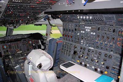 Flight-engineer's workstation in PH-BUK (preserved in the Aviodrome-museum at Lelystad in the Netherlands).