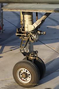 Nose-wheel of the Viggen (preserved in the Aviodrome-museum at Lelystad in the Netherlands).