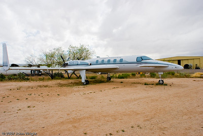 "Beechcraft Model 2000A ""Starship"", the first all composite business aircraft, designed by Burt Rutan.  Despite the revolutionary design, the aircraft was a commercial failure and most aircraft have been scrapped or placed in museums."