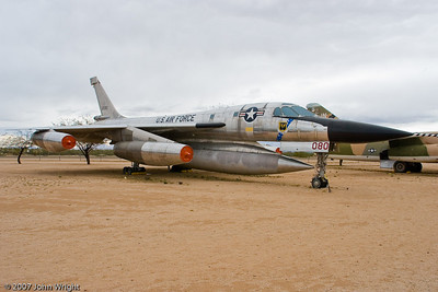 "Convair B-58A ""Hustler"", the USAF's first supersonic bomber.."