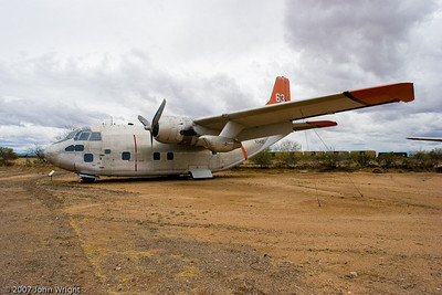 "Fairchild C-123K ""Provider"" converted for firefighting"