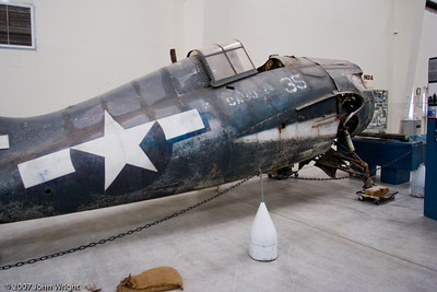 "General Motors FM-2 ""Wildcat"".  This aircraft was recovered from the bottom of Lake Michigan"