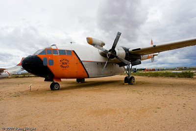 "Fairchild C-119C ""Flying Boxcar"" converted for firefighting."