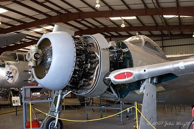 "Grumman F8F-1 ""Bearcat"" undergoing restoration"