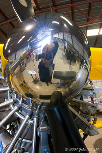 "Self-Portrait in the spinner of a Stearman PT-17 ""Kaydet"" at Planes Of Fame"