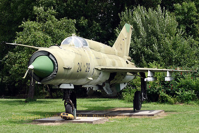 Former East German Air Force MiG-21bis, preserved at Beauvechain Historical Centre.