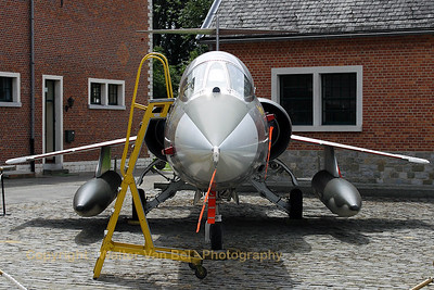 Belgian Air Force F-104G Starfighter, preserved at Beauvechain AFB (1Wing Historical Center), including original stepladder.