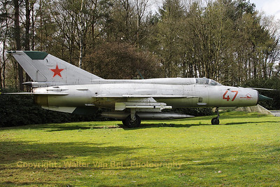 Russian Air Force MIG-21PFM (47 red; cn 940MS13/2013), preserved at Soesterberg MLM.