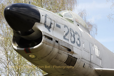This North American (Fiat-built) night fighter F-86K Sabre (Q-283 of the Royal Netherlands Air Force) has now found a place at the Soesterberg museum. It used to be a gate guard at Twente (EHTW).