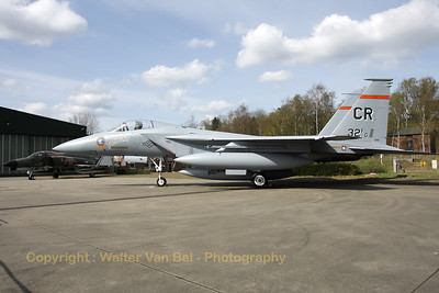"This F-15A served with the 1st Tactical Fighter Wing at Langley (USA), but it is now painted as a F-15A (77-0132) of the 32nd FG ""Wolfhounds"". The 32nd FG ""Wolfhounds"" was based at Soesterberg from 1954 till 1994."