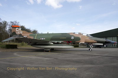 "This Phantom never flew for the 32nd FG at Soesterberg Air Base (Camp New Amsterdam), but it is now painted in the c/s of the 32nd FG ""Wolfhounds"". The 32nd FG ""Wolfhounds"" was based at Soesterberg from 1954 till 1994. This aircraft is in fact F-4E Phantom II (reg: 67-0275, cn3011), which flew for the 35th TFS, 3rd TFW at George AFB, Ca."