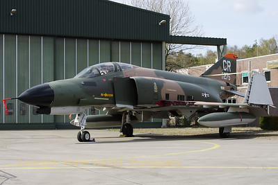 "This Phantom never flew for the 32nd FG at Soesterberg Air Base (Camp New Amsterdam), but it is now painted in the c/s of the 32nd FG ""Wolfhounds"". The 32nd FG ""Wolfhounds"" was based at Soesterberg from 1954 till 1994. This aircraft is in fact F-4E Phantom II (reg: 67-0275, cn3011), which flew for the 35th TFS, 3rd TFW at George AFB, Ca. It was credited with a MiG kill on September 12, 1972 (at that time piloted by Lt.Col.Lyle L. Beckers and 1Lt Thomas M. Griffin)."
